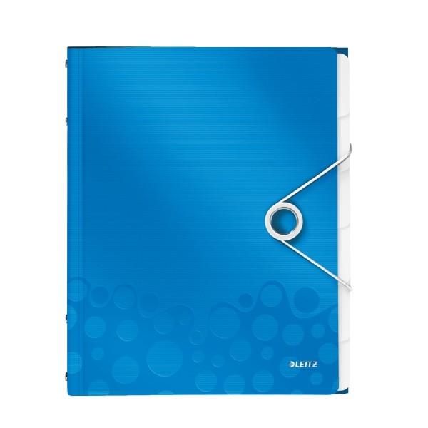 Map? cu separatoare LEITZ Wow, PP, 6 separatoare - albastru metalizat