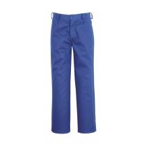 Pantaloni in talie din bumbac 100%, 240 gr/mp, culoare albastru electric