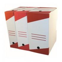 Cutie arhivare RTC, 330 x 245 x 100 mm, alb, 10 bucati/set