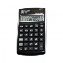 Calculator Citizen CPC-112V, 12 digiti, dual power, 120 x 72 x 9 mm