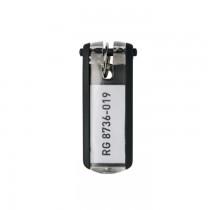 Suport eticheta pentru chei Durable, 6 bucati/set, negru