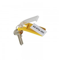 Suport eticheta pentru chei Durable, 6 bucati/set, galben