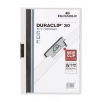 Dosar Durable Duraclip Original, 30 coli, alb