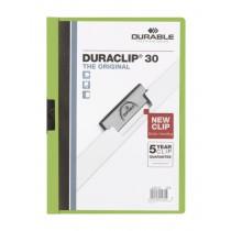 Dosar Durable Duraclip Original, 30 coli, verde