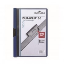 Dosar Durable Duraclip Original, 60 coli, albastru inchis