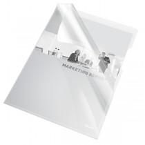 """Mapa """"L"""" pentru documente A4, 150 microni, 25/set, ESSELTE - transparent cristal"""