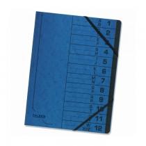 Mapa pentru corespondenta Falken, A4, index 1-12, albastru