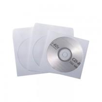 Plic CD, 124 x 124 mm, 80 g/mp, autoadeziv, 25 bucati/cutie, alb