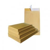 Plic cu burduf B5, 175 x 250 x 20, kraft, siliconic, 90 g/mp, 250 bucati/cutie