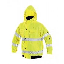 Jacheta in talie de inalta vizibilitate, culoare galben, din poliester Oxford. Cu benzi reflectorizante. Impermeabila. Maneci detasabile. Captuseala din poliester