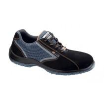 Ontario S1P SRC Pantofi de protectie- spalt de bovina, material textil perforat Verusso si ornament reflectorizant; bombeu compozit; lamela nemetalica