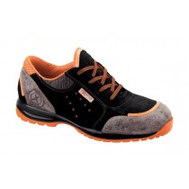 Orange S1P HRO SRC Pantofi de protectie- spalt de bovina si spalt cerat; bombeu compozit; lamela nemetalica