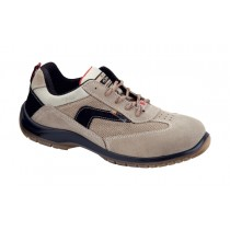 Ovidio S1P SRC Pantofi de protectie- spalt de bovina, tesaturaCross, banda textila reflectorizanta; bombeu compozit; lamela nemetalica