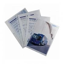 File de protectie din plastic, transparent, cristal, 50 microni, A4