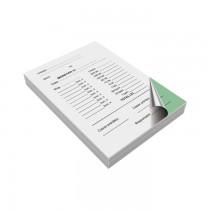 Formulare pe hartie autocopiativa, 2 exemplare alb-color: monetar, fata, A6