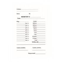 Formulare pe hartie offset: monetar, fata, A6, 100 file/carnet, 3 carnete/set