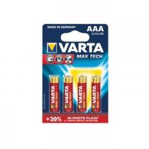 Baterii Varta Max Tech LR03, AAA, 4 bucati/blister