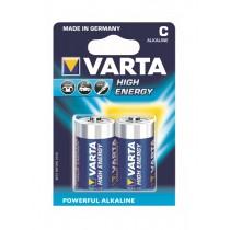 Baterii Varta High Energy R14, C, 2 bucati/blister